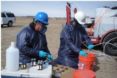Fracking water test