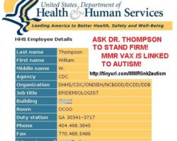 Take Action: Stop CDC Whistle Blower Thompson from Recanting His Truth to Repeat More Lies