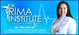 Dr. Rima Replies to a Warning from the State