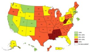 We're Number…One? New CDC Fat Maps Are Out And The U.S. Is Still As Obese As Ever