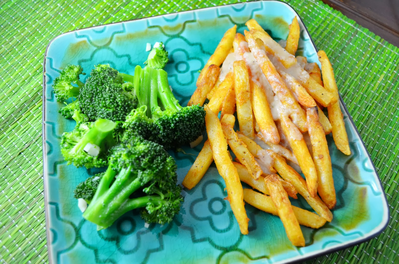 broccoli-and-fries-with-gravy