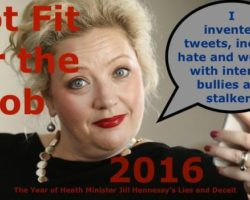 Jill Hennessy's 2016 – Lies, Deceit, Reasonable Hank, Gluyas and Corruption in Government