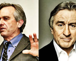 ROBERT DE NIRO AND ROBERT KENNEDY HOLDING PRESS CONFERENCE ANNOUNCING TOXIC MERCURY IN VACCINES
