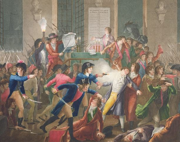 Arrest of (and shooting) Robespierre