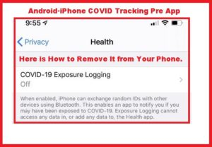 Android / iPhone COVID-19 Tracking Pre-App