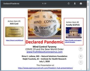 FREEDOM HUB: Declared Pandemic Mind Control