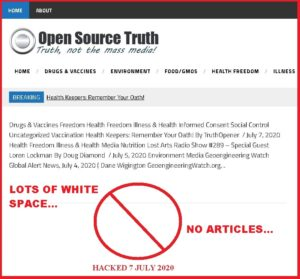 OPEN SOURCE TRUTH HACKED?