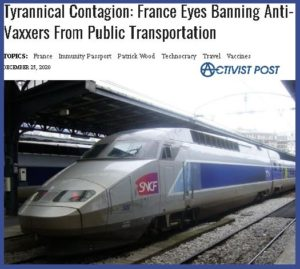 French Govt Ban Unvaxxed from Public Transport?