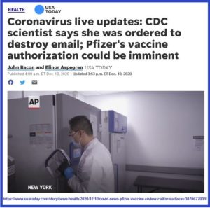COVID and the Vaccine: Be Afraid.