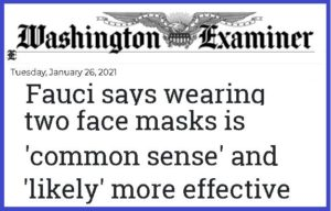 Two Masks Better Than One?