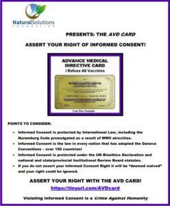AVD Card Bulletpoints