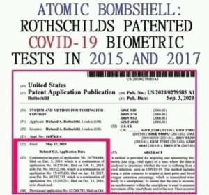 Don't You Dare!  Must See, Must Share: Rothschilds Patented COVID 19 Test Starting in 2016