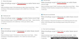 Mainstream Media Exposed Coordinating Identical Mass Shooting Narratives for Different States