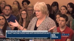 Anti-vaxx doctor tells Ohio legislature meeting that vaccines MAGNETIZE people after 'she saw internet videos of people sticking spoons to their forehead'