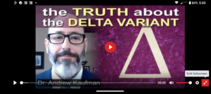 Dr. Andrew Kaufman – the Delta Variant Hoax Exposed