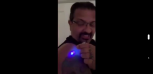 Luciferase Being Picked Up By Vaccine Victims Using a Black Light?