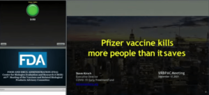 FDA experts reveal the Covid-19 Vaccines are killing at least 2 people for every 1 life they save as they vote 16 – 2 against the approval of booster shots