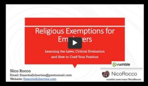 Writing Religious Exemptions
